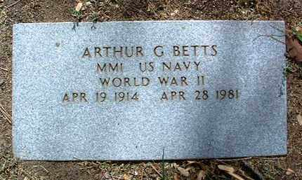 BETTS, ARTHUR G. - Yavapai County, Arizona | ARTHUR G. BETTS - Arizona Gravestone Photos