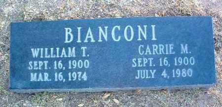 BIANCONI, WILLIAM TELL - Yavapai County, Arizona | WILLIAM TELL BIANCONI - Arizona Gravestone Photos