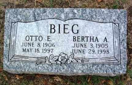 BIEG, OTTO E. - Yavapai County, Arizona   OTTO E. BIEG - Arizona Gravestone Photos