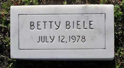 BIELE, BETTY - Yavapai County, Arizona | BETTY BIELE - Arizona Gravestone Photos