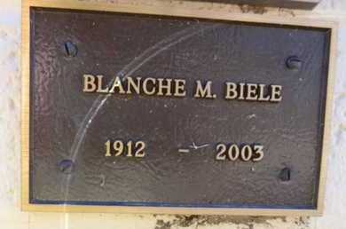 BIELE, BLANCHE M. - Yavapai County, Arizona | BLANCHE M. BIELE - Arizona Gravestone Photos