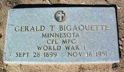 BIGAOUETTE, GERALD T. - Yavapai County, Arizona | GERALD T. BIGAOUETTE - Arizona Gravestone Photos