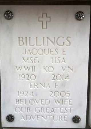 BILLINGS, JACQUES EDWARD - Yavapai County, Arizona | JACQUES EDWARD BILLINGS - Arizona Gravestone Photos