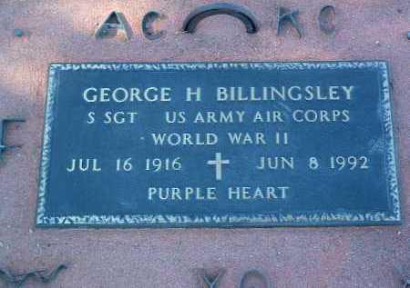 BILLINGSLEY, GEORGE H. - Yavapai County, Arizona | GEORGE H. BILLINGSLEY - Arizona Gravestone Photos