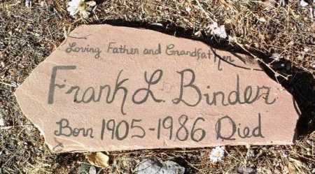 BINDER, FRANK L. - Yavapai County, Arizona | FRANK L. BINDER - Arizona Gravestone Photos