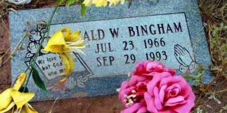 BINGHAM, RONALD WAYNE - Yavapai County, Arizona | RONALD WAYNE BINGHAM - Arizona Gravestone Photos