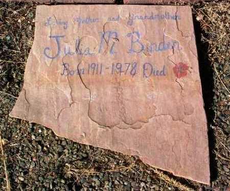 BINDER, JULIA MARY - Yavapai County, Arizona | JULIA MARY BINDER - Arizona Gravestone Photos