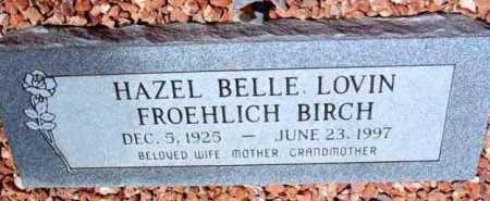 FROEHLICH, HAZEL BELLE - Yavapai County, Arizona | HAZEL BELLE FROEHLICH - Arizona Gravestone Photos