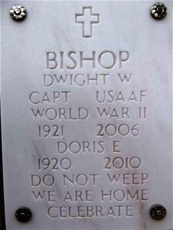 BISHOP, DWIGHT W. - Yavapai County, Arizona   DWIGHT W. BISHOP - Arizona Gravestone Photos