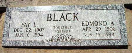 BLACK, EDMOND A. - Yavapai County, Arizona | EDMOND A. BLACK - Arizona Gravestone Photos