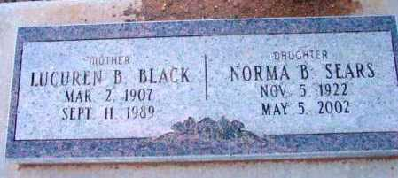 BLACK SEARS, NORMA B. - Yavapai County, Arizona | NORMA B. BLACK SEARS - Arizona Gravestone Photos