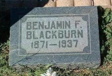 BLACKBURN, BENJAMIN F. - Yavapai County, Arizona | BENJAMIN F. BLACKBURN - Arizona Gravestone Photos