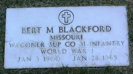 BLACKFORD, BERT  M. - Yavapai County, Arizona   BERT  M. BLACKFORD - Arizona Gravestone Photos