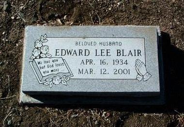 BLAIR, EDWARD LEE - Yavapai County, Arizona | EDWARD LEE BLAIR - Arizona Gravestone Photos