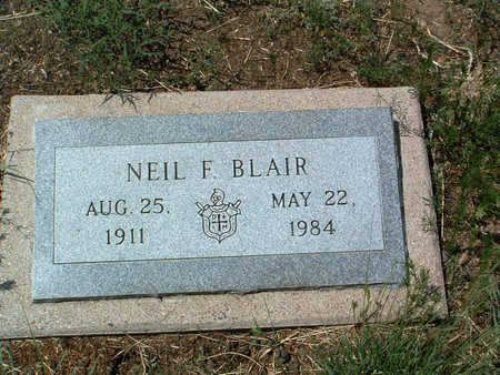 BLAIR, NEIL F. - Yavapai County, Arizona | NEIL F. BLAIR - Arizona Gravestone Photos