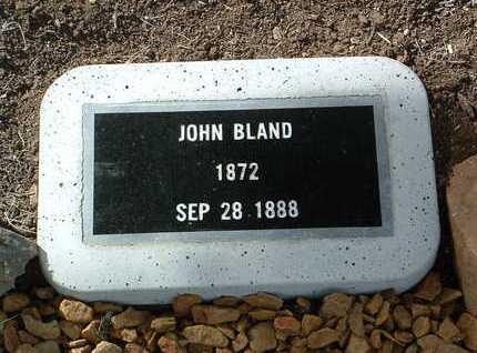 BLAND, JOHN - Yavapai County, Arizona | JOHN BLAND - Arizona Gravestone Photos