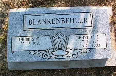BLANKENBEHLER, THOMAS M. - Yavapai County, Arizona | THOMAS M. BLANKENBEHLER - Arizona Gravestone Photos