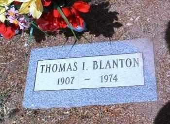 BLANTON, THOMAS I. - Yavapai County, Arizona   THOMAS I. BLANTON - Arizona Gravestone Photos