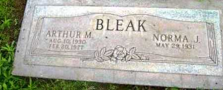 BLEAK, ARTHUR M. - Yavapai County, Arizona | ARTHUR M. BLEAK - Arizona Gravestone Photos