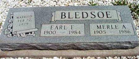 BLEDSOE, EARL E. - Yavapai County, Arizona | EARL E. BLEDSOE - Arizona Gravestone Photos