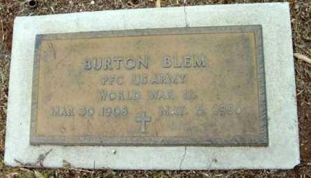 BLEM, BURTON - Yavapai County, Arizona   BURTON BLEM - Arizona Gravestone Photos