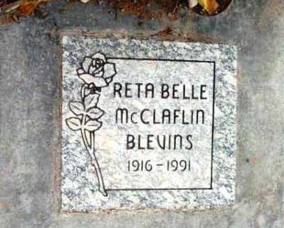 MCCLAFLIN BLEVINS, RETA - Yavapai County, Arizona | RETA MCCLAFLIN BLEVINS - Arizona Gravestone Photos