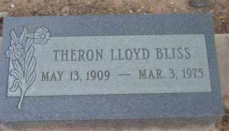 BLISS, THERON LLOYD - Yavapai County, Arizona | THERON LLOYD BLISS - Arizona Gravestone Photos