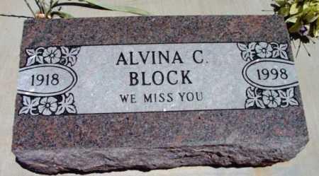 CARLSON BLOCK, ALVINA C. - Yavapai County, Arizona | ALVINA C. CARLSON BLOCK - Arizona Gravestone Photos