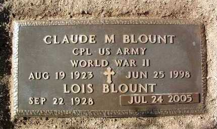 BLOUNT, CLAUDE MARVIN - Yavapai County, Arizona | CLAUDE MARVIN BLOUNT - Arizona Gravestone Photos