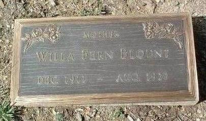 SMITH BLOUNT, WILLA FERN - Yavapai County, Arizona | WILLA FERN SMITH BLOUNT - Arizona Gravestone Photos