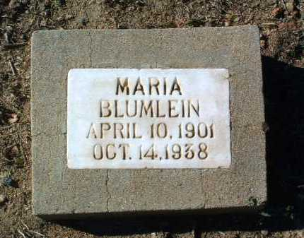 LUTZ BLUMLEIN, MARIA - Yavapai County, Arizona | MARIA LUTZ BLUMLEIN - Arizona Gravestone Photos