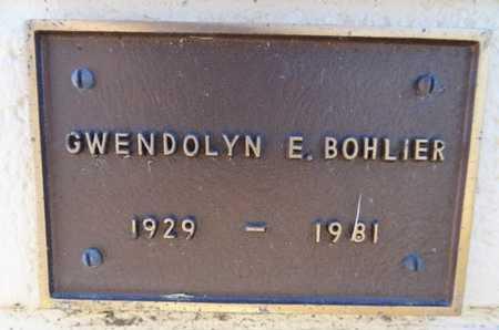 BOHLIER, GWENDOLYN ESTELLA - Yavapai County, Arizona | GWENDOLYN ESTELLA BOHLIER - Arizona Gravestone Photos