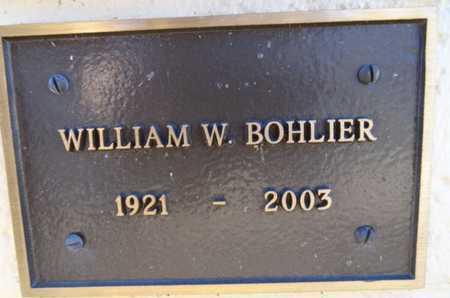 BOHLIER, WILLIAM WILBUR - Yavapai County, Arizona | WILLIAM WILBUR BOHLIER - Arizona Gravestone Photos