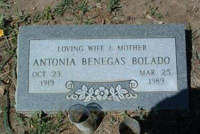 BOLADO, ANTONIA - Yavapai County, Arizona | ANTONIA BOLADO - Arizona Gravestone Photos
