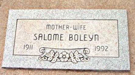 BOLEYN, SALOME - Yavapai County, Arizona | SALOME BOLEYN - Arizona Gravestone Photos