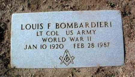 BOMBARDIERI, LOUIS F - Yavapai County, Arizona   LOUIS F BOMBARDIERI - Arizona Gravestone Photos