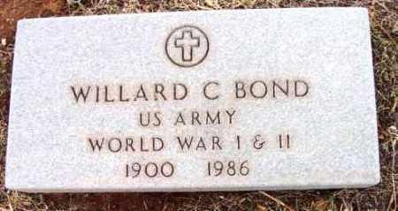 BOND, WILLARD C. - Yavapai County, Arizona | WILLARD C. BOND - Arizona Gravestone Photos
