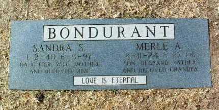 BONDURANT, MERLE A. - Yavapai County, Arizona | MERLE A. BONDURANT - Arizona Gravestone Photos