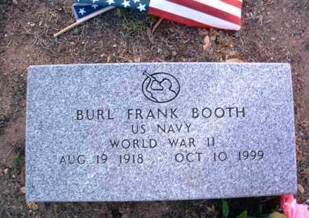 BOOTH, BURL FRANK - Yavapai County, Arizona | BURL FRANK BOOTH - Arizona Gravestone Photos