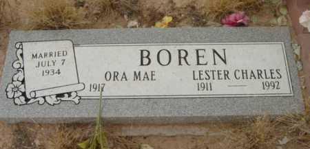 BOREN, ORA MAE - Yavapai County, Arizona | ORA MAE BOREN - Arizona Gravestone Photos