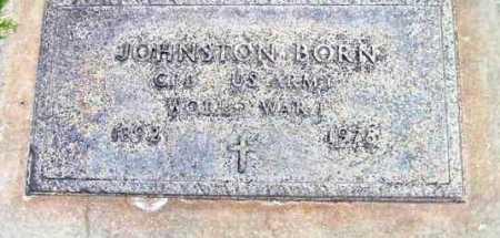 BORN, JOHNSTON AUGUSTUS - Yavapai County, Arizona   JOHNSTON AUGUSTUS BORN - Arizona Gravestone Photos