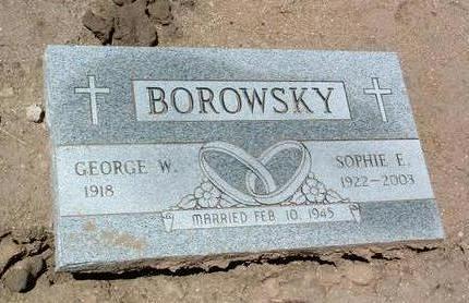 BOROWSKY, SOPHIE E. - Yavapai County, Arizona | SOPHIE E. BOROWSKY - Arizona Gravestone Photos