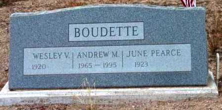 BOUDETTE, WESLEY VERNON - Yavapai County, Arizona | WESLEY VERNON BOUDETTE - Arizona Gravestone Photos