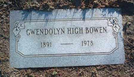 HIGH BOWEN, GWENDOLYN - Yavapai County, Arizona | GWENDOLYN HIGH BOWEN - Arizona Gravestone Photos