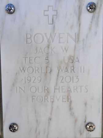 BOWEN, JACK WARREN - Yavapai County, Arizona | JACK WARREN BOWEN - Arizona Gravestone Photos