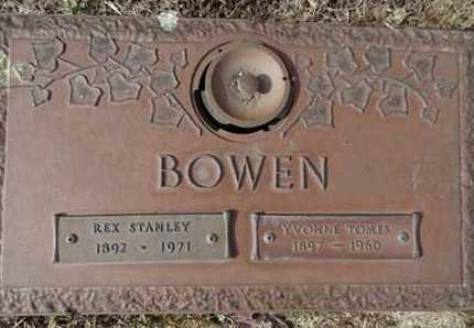 TOMES BOWEN, YVONNE - Yavapai County, Arizona | YVONNE TOMES BOWEN - Arizona Gravestone Photos
