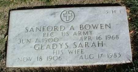 BOWEN, SANFORD ALFRED - Yavapai County, Arizona | SANFORD ALFRED BOWEN - Arizona Gravestone Photos