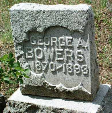 BOWERS, GEORGE ALFRED - Yavapai County, Arizona | GEORGE ALFRED BOWERS - Arizona Gravestone Photos