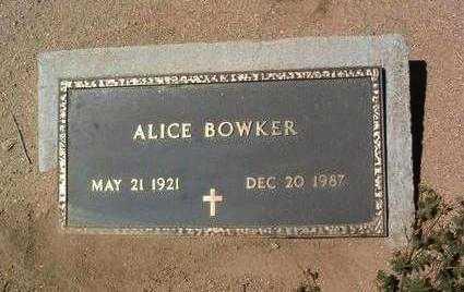 BOWKER, ALICE ELEANOR - Yavapai County, Arizona | ALICE ELEANOR BOWKER - Arizona Gravestone Photos