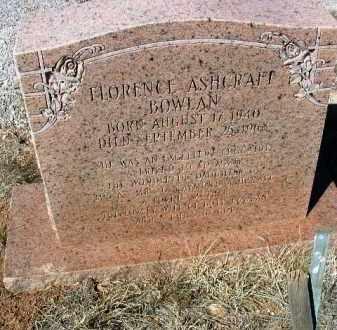 ASHCRAFT BOWLAN, F. - Yavapai County, Arizona | F. ASHCRAFT BOWLAN - Arizona Gravestone Photos